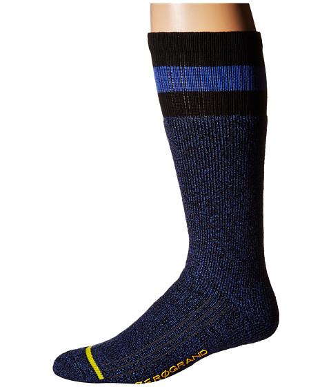 Cole Haan ZeroGrand Boot Sock - Black/Ultramarine