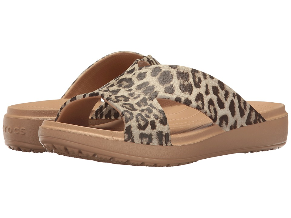 Crocs Sloane Graphic Xstrap (Leopard) Women