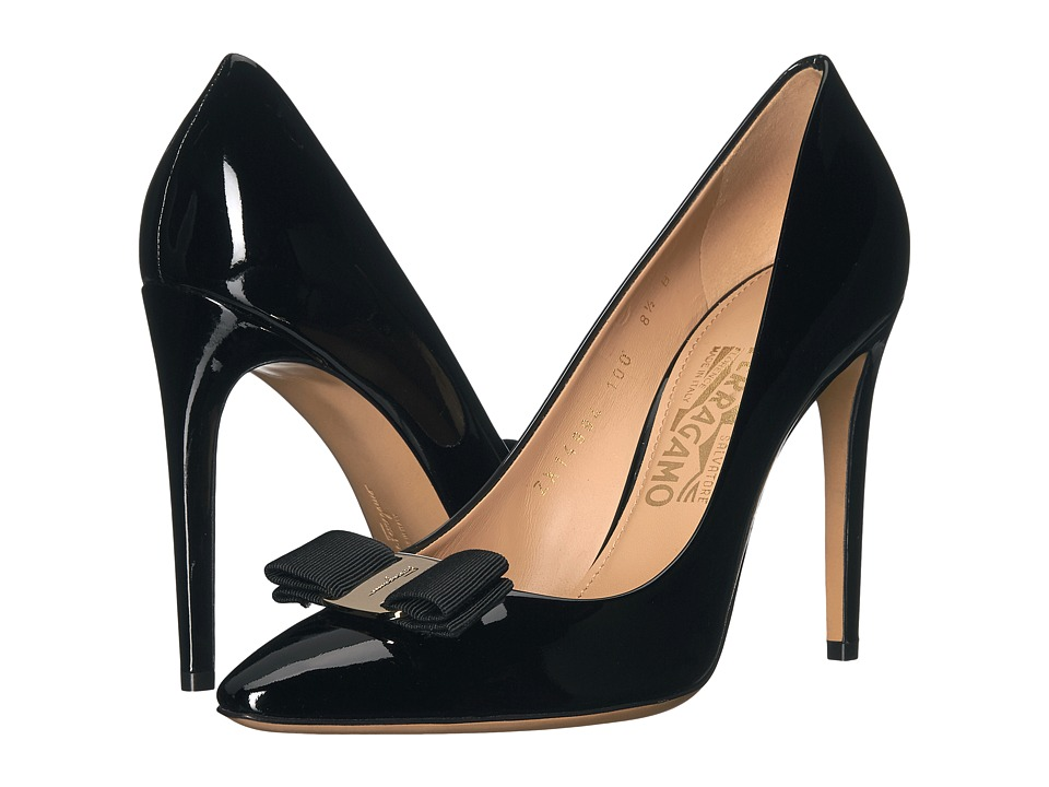 Salvatore Ferragamo Emy 100 (Nero Patent) High Heels