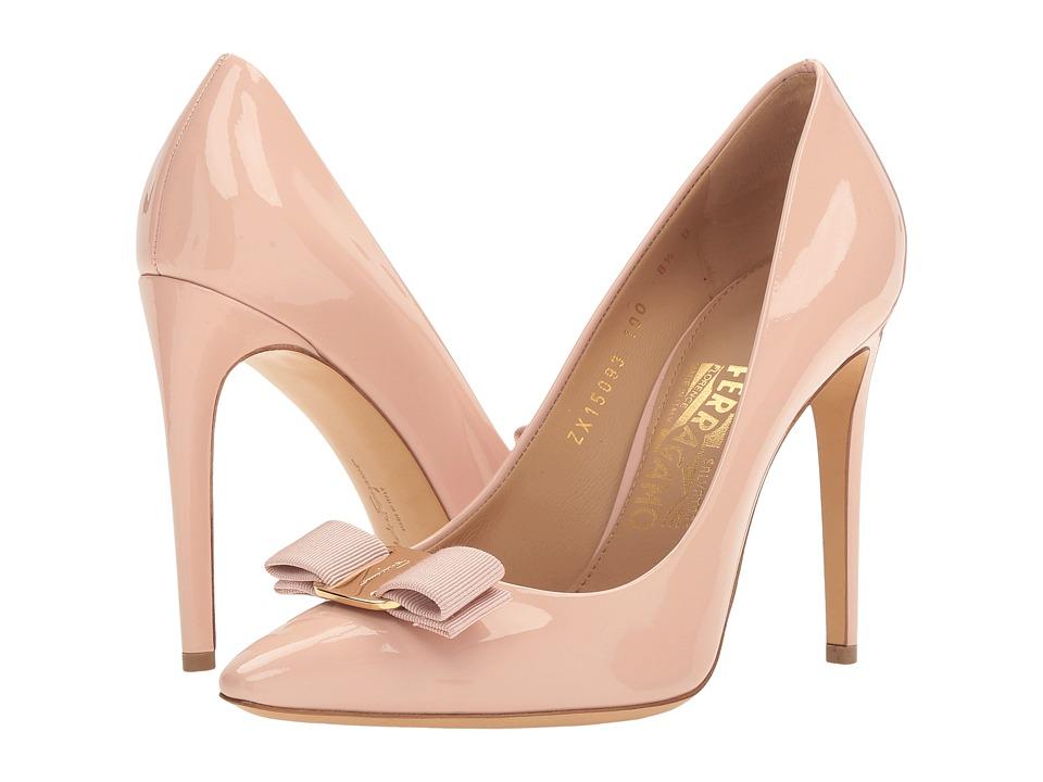 Salvatore Ferragamo Emy 100 (Bon Bon Patent) High Heels