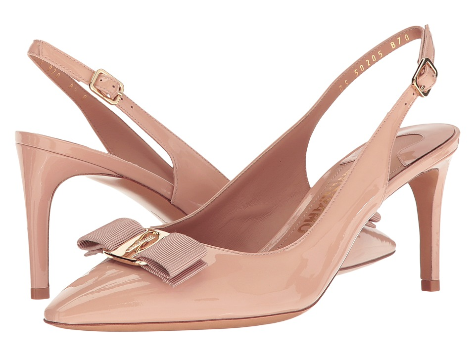 Salvatore Ferragamo Erina (New Bisque Patent) High Heels