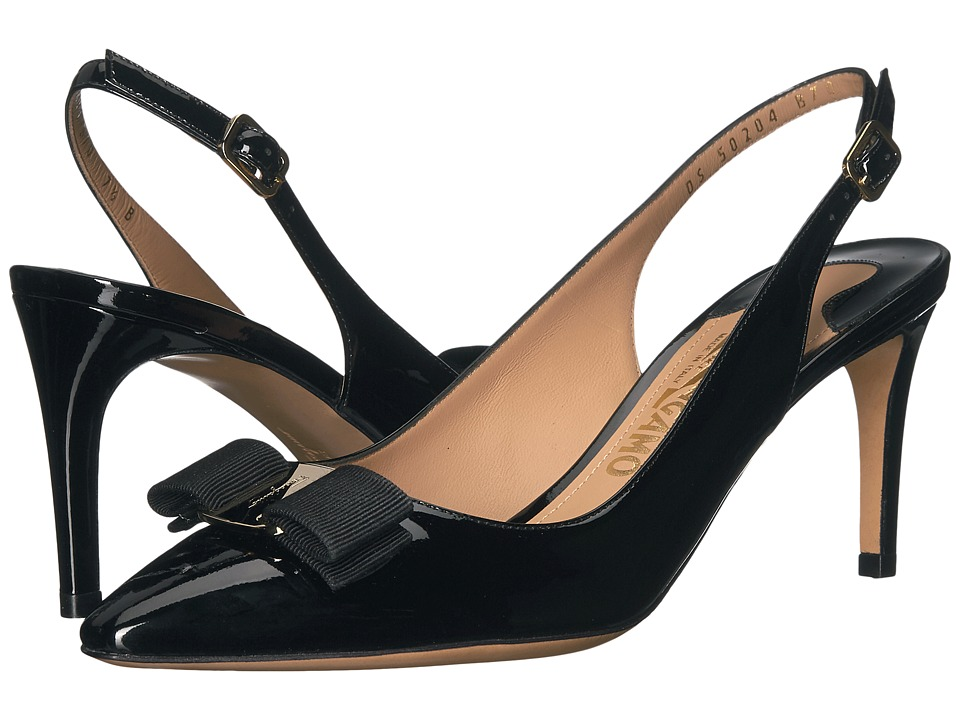 Salvatore Ferragamo Erina (Nero Patent) High Heels