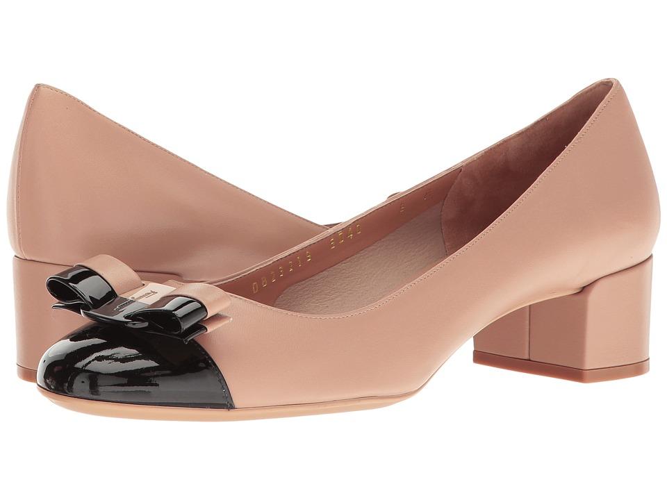 Salvatore Ferragamo Elea 40 1 (Nero Patent) High Heels