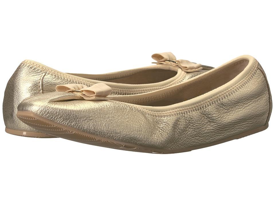 Salvatore Ferragamo Nappa Flex Ballerina Flat (Platino Ca...