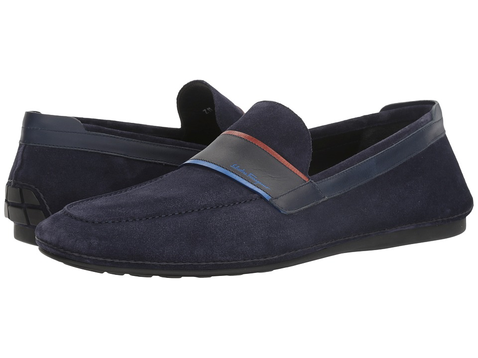 Salvatore Ferragamo Florida Loafer (Blue Marine) Men