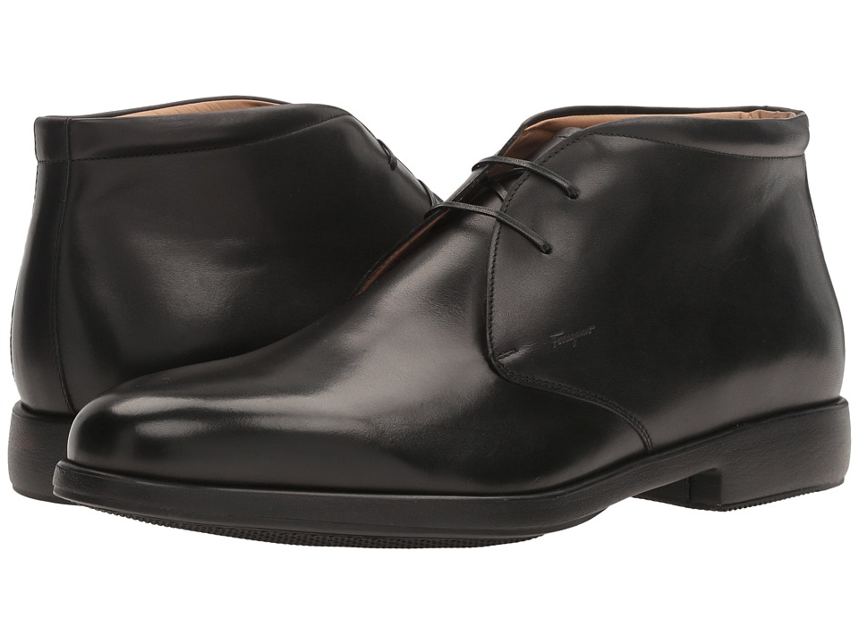 Salvatore Ferragamo Falco Boot (Black) Men