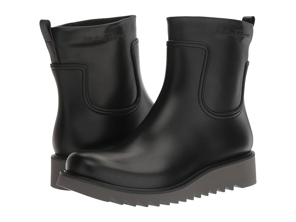 Salvatore Ferragamo Freddo Rain Boot (Black) Men