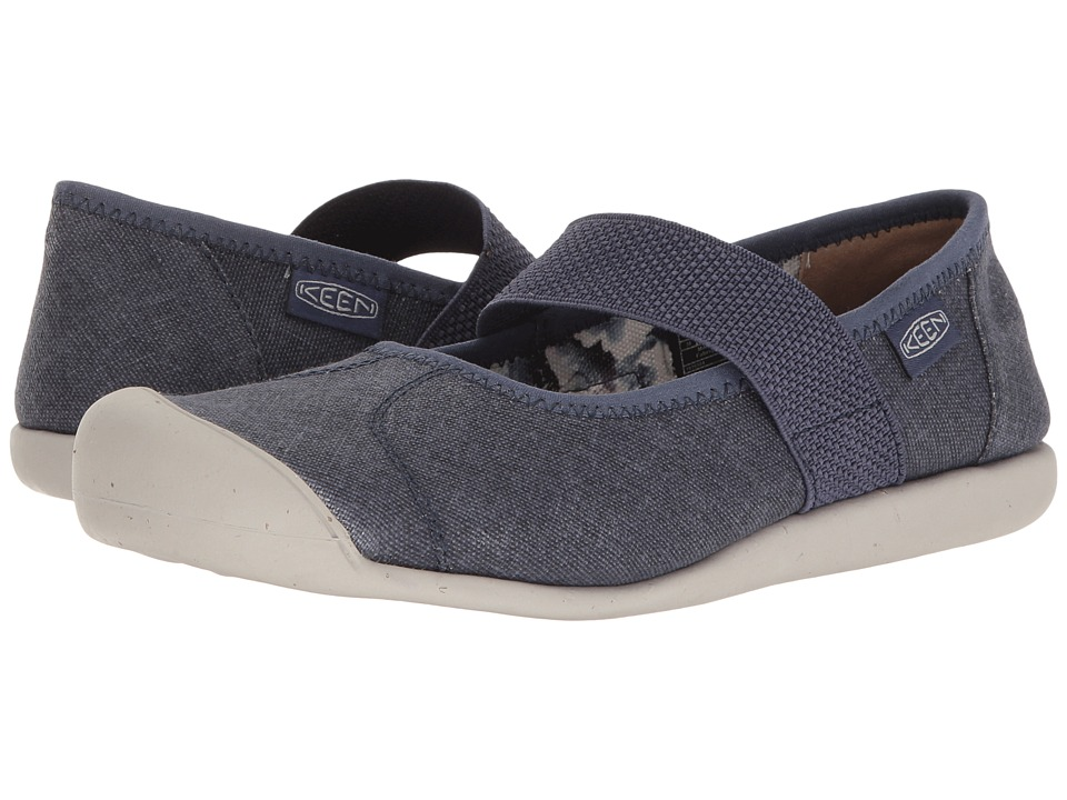 Keen - Sienna MJ Canvas (Crown Blue) Womens Flat Shoes
