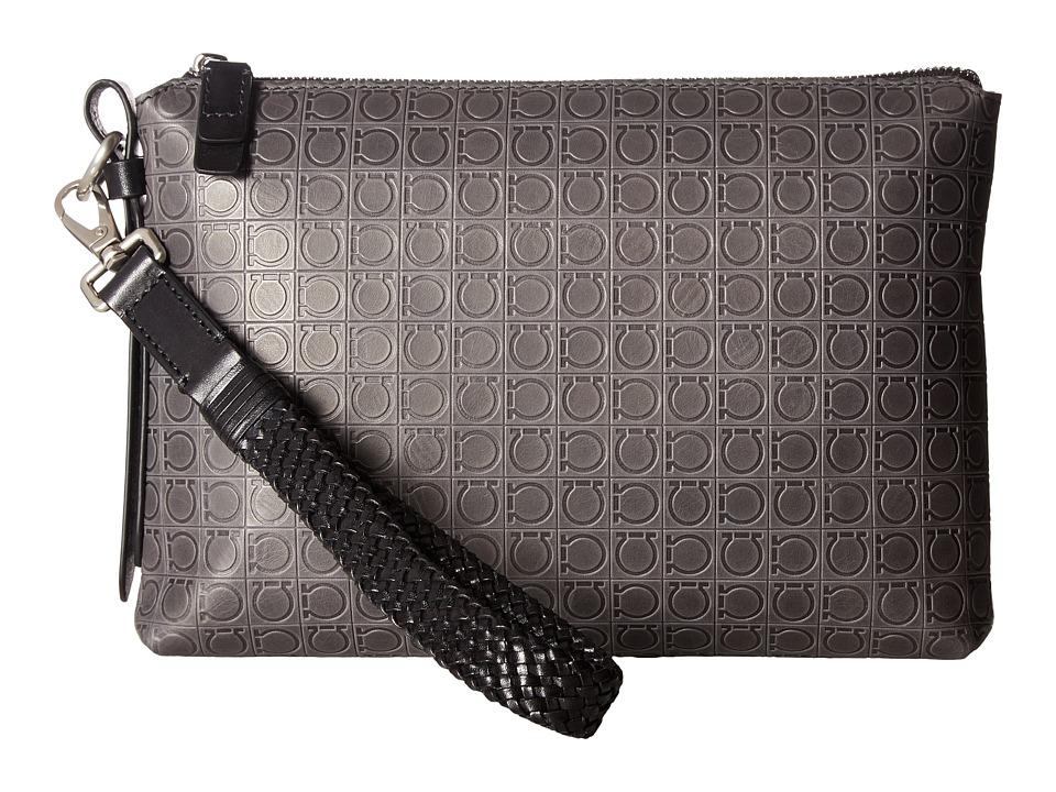 Salvatore Ferragamo Foster Portfolio 240354 (Cenere) Briefcase Bags