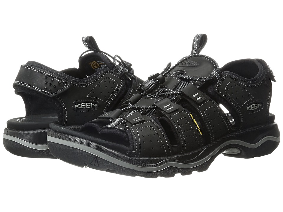 Keen - Rialto Open Toe (Black/Neutral Gray) Men's Shoes