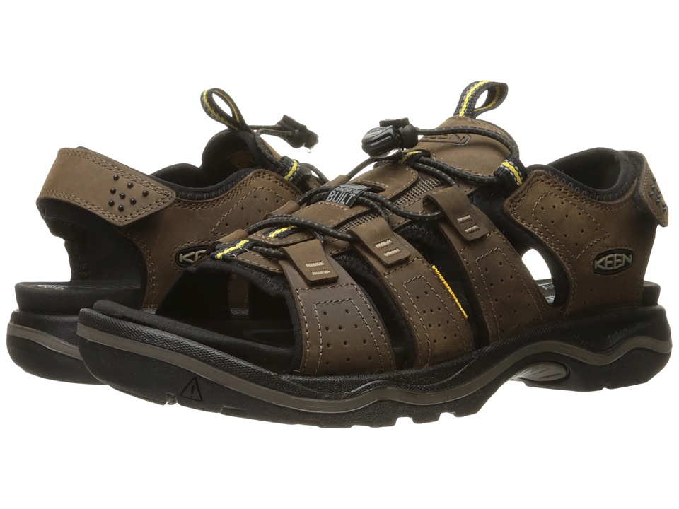 Keen - Rialto Open Toe (Dark Earth/Black) Men's Shoes
