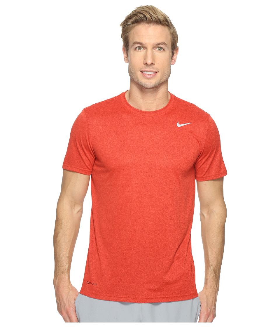 Nike Legend 2.0 Short Sleeve Tee (Dark Cayenne/Max Orange/Matte Silver) Men