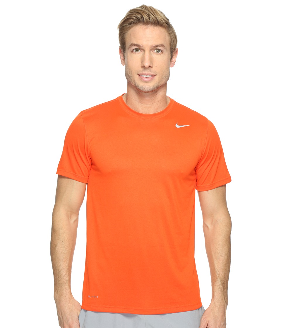 Nike Legend 2.0 Short Sleeve Tee (Team Orange/Matte Silver) Men