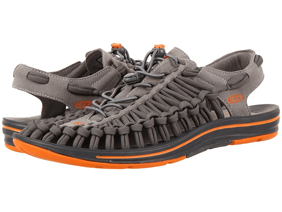 Keen - Uneek Flat (Gargoyle/Burnt Orange) Mens Shoes