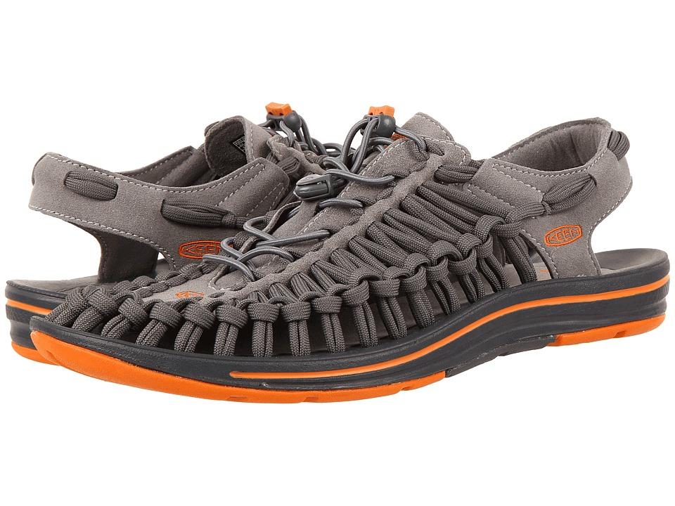 Keen Uneek Flat (Gargoyle/Burnt Orange) Men
