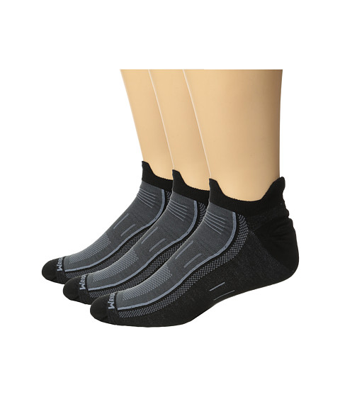 Wrightsock Endurance Double Tab 3-Pack - Black