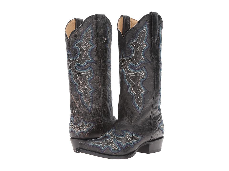 Stetson Blake (Black Crackle) Cowboy Boots