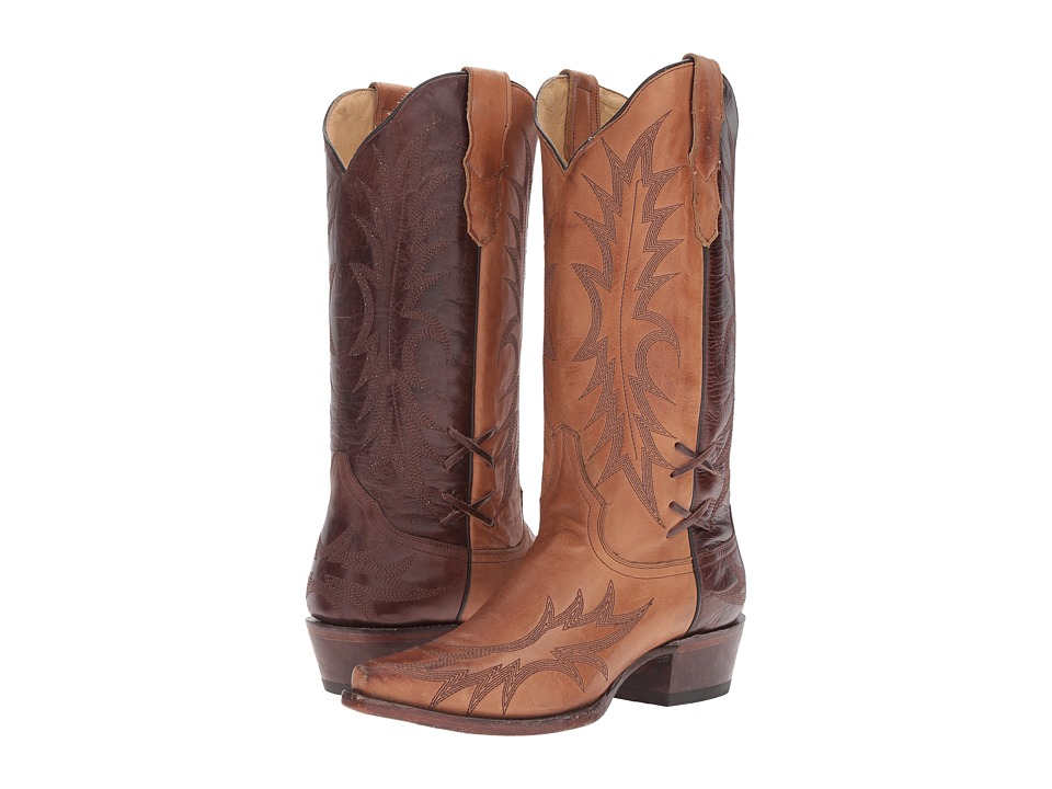 Stetson Quinn (Sorrel Brown Burnished) Cowboy Boots