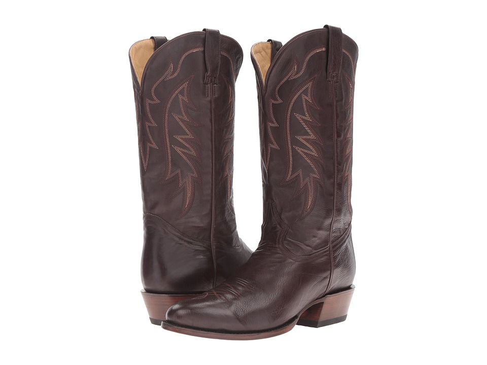 Stetson Ficcini All Over (Dark Brown) Cowboy Boots