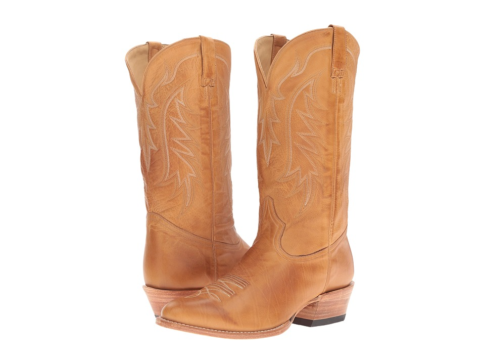 Stetson Ficcini All Over (Tan Burnished Calf) Cowboy Boots