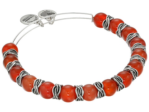 Alex and Ani Earth Red Independence Beaded Bangle - Rafaelian Silver