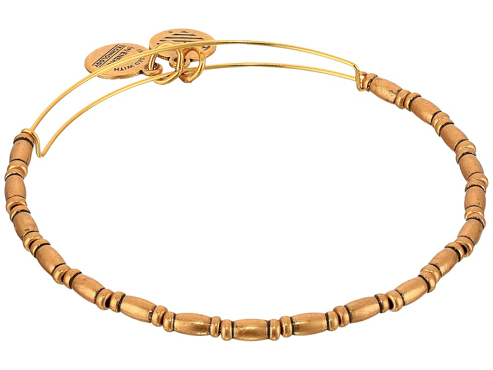 Alex And Ani Reed Beaded Bangle (Rafaelian Gold) Bracelet