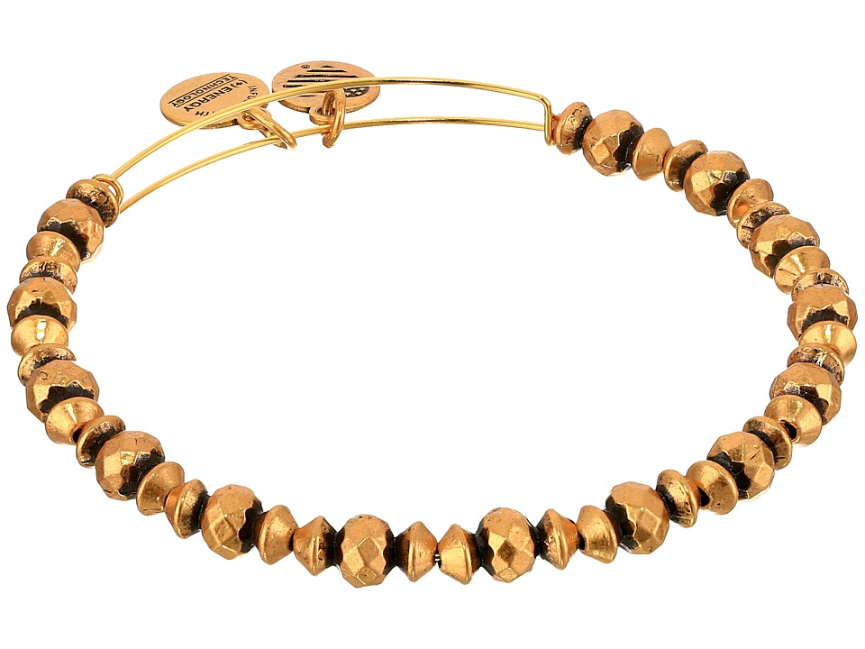 Alex and Ani - Canyon Beaded Bangle (Rafaelian Gold) Bracelet