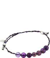 Alex and Ani - Precious Threads Amethyst Gemstone Inky Purple Braid