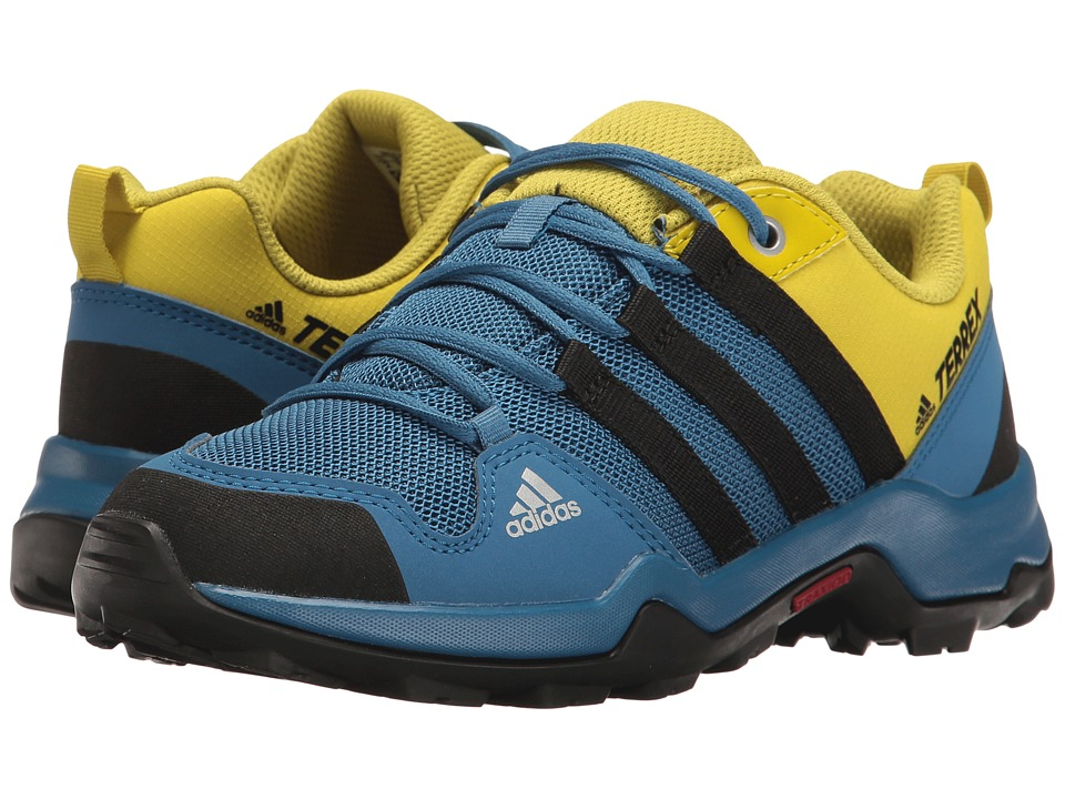 adidas Outdoor Kids Terrex AX2R (Little Kid/Big Kid) (Core Blue/Black/Unity Lime) Boys Shoes