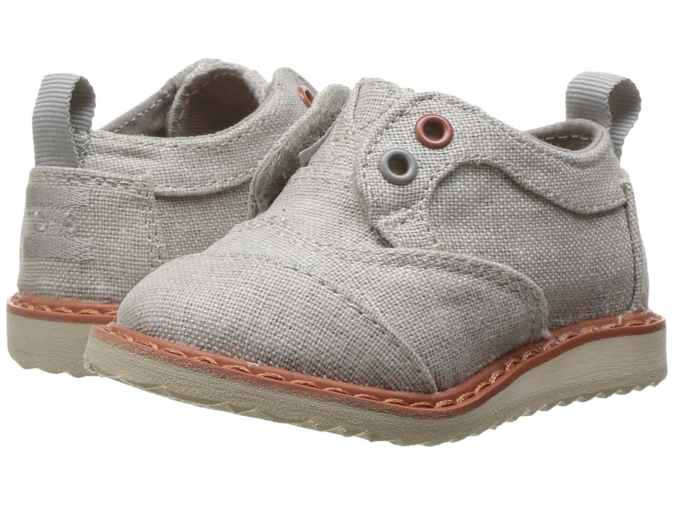 TOMS Kids - Brogue Dress (Infant/Toddler/Little Kid) (Drizzle Grey Coated Linen) Boys Shoes