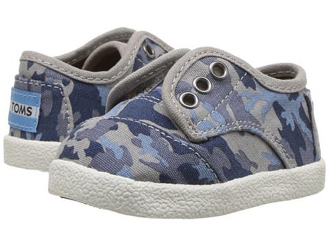 TOMS Kids Paseo Sneaker (Infant/Toddler/Little Kid) - Deep Ocean Camo