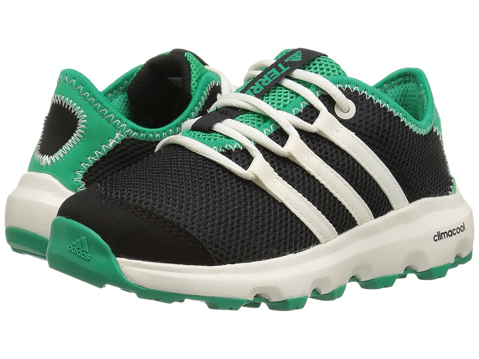 adidas Outdoor Kids Terrex Climacool Voyager (Little Kid/Big Kid) (Black/Chalk White/Core Green) Boys Shoes