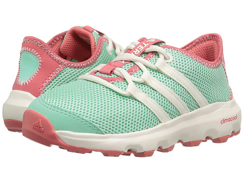 adidas Outdoor Kids Terrex Climacool Voyager (Little Kid/Big Kid) - Easy Green/Chalk White/Tactile Pink