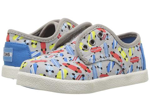 TOMS Kids Paseo Sneaker (Infant/Toddler/Little Kid) - Drizzle Grey Skateboards