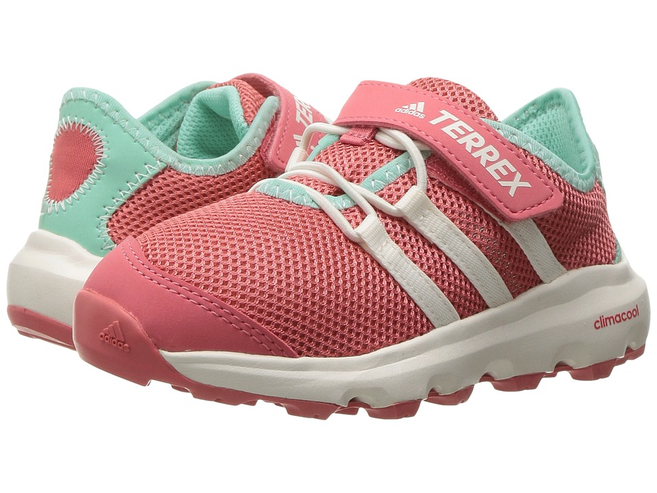 adidas Outdoor Kids Terrex Climacool Voyager CF (Little Kid/Big Kid) (Tactile Pink/Chalk White/Easy Green) Girls Shoes
