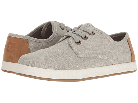 TOMS Kids Paseo Sneaker (Little Kid/Big Kid) - Drizzle Grey Coated Linen