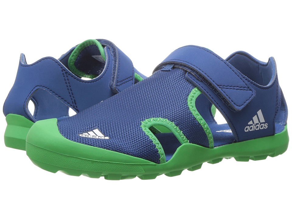 adidas Outdoor Kids Captain Toey (Toddler/Little Kid/Big Kid) (Core Blue/Energy Green/White) Boys Shoes