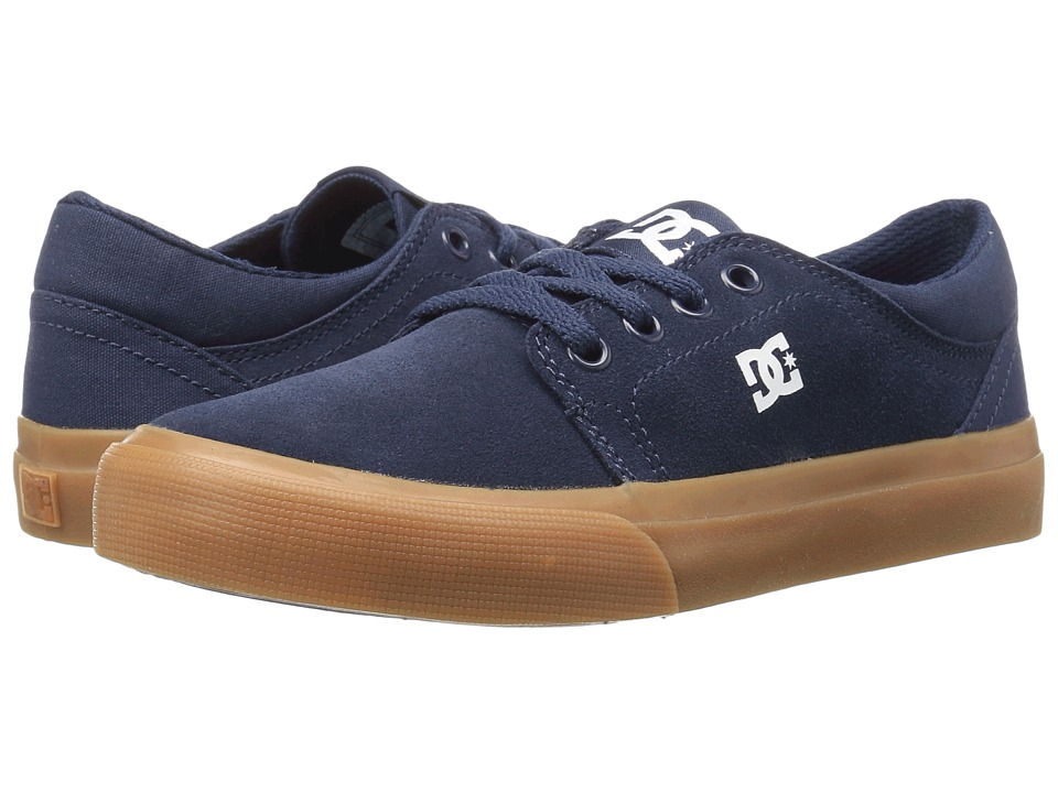 DC Kids Trase (Little Kid/Big Kid) (Navy/Gum) Boys Shoes
