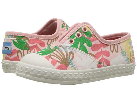 TOMS Kids Zuma Sneaker (Infant/Toddler/Little Kid) - Pink Tropical Palms