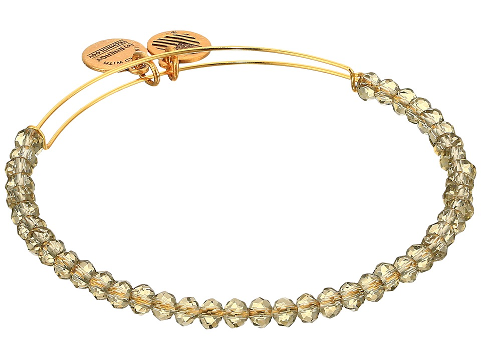 Alex and Ani - Crescent Moon Brilliance Beaded Bangle