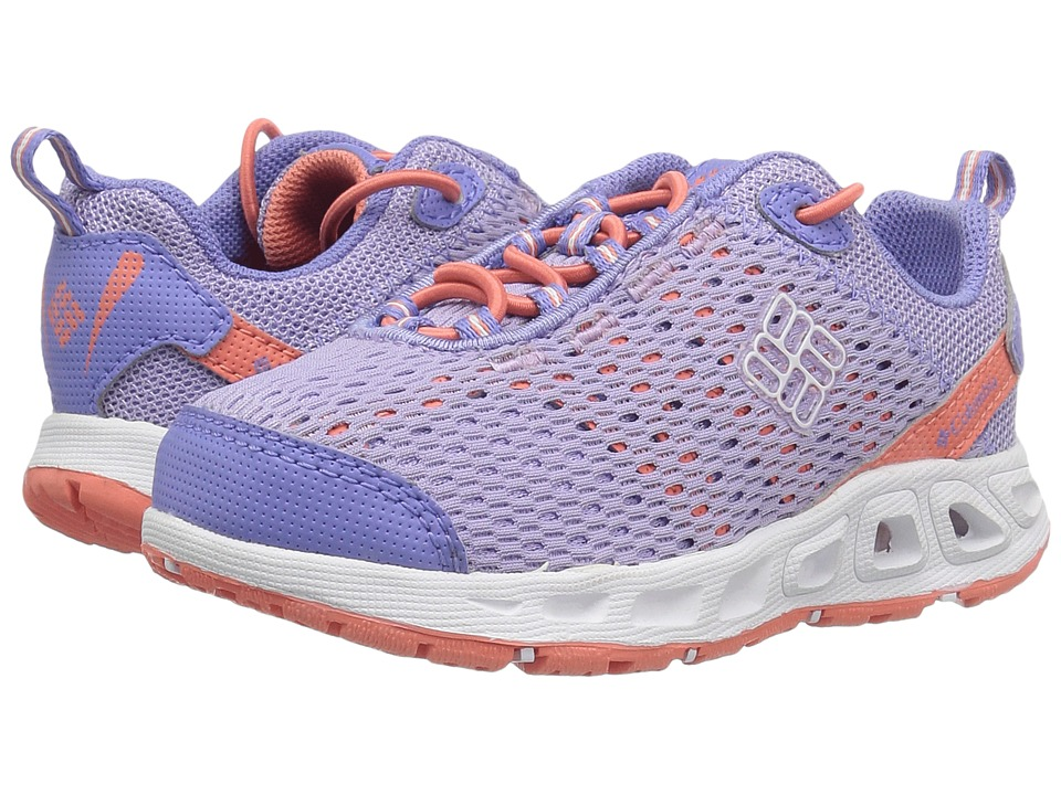 Columbia Kids - Drainmaker III (Toddler/Little Kid/Big Kid) (Whitened Violet/Lychee) Girls Shoes