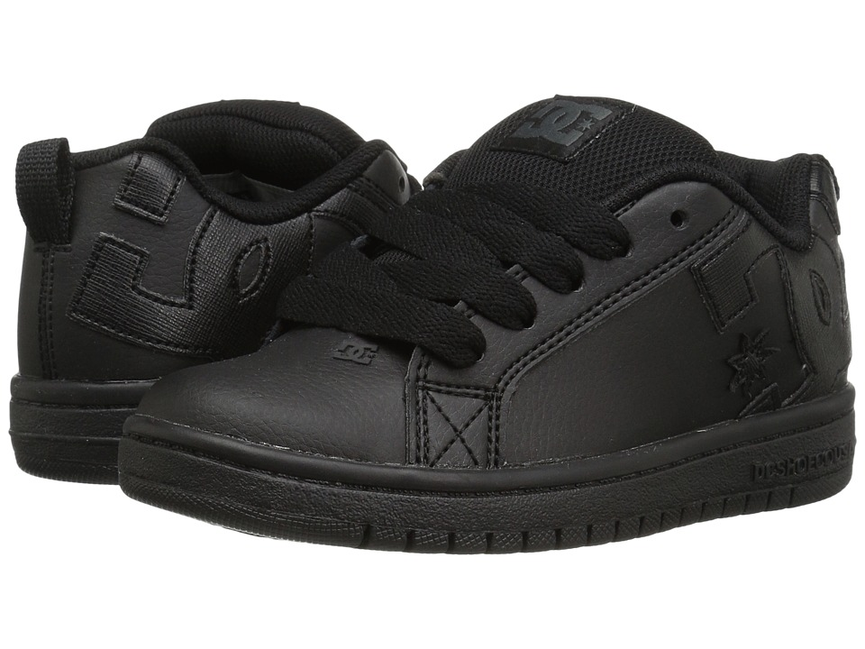 DC Kids - Court Graffik (Little Kid/Big Kid) (Black/Black/Black) Boys Shoes