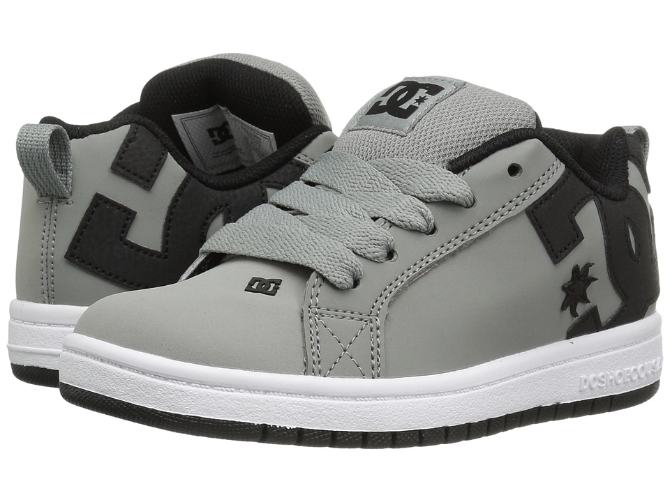 DC Kids - Court Graffik (Little Kid/Big Kid) (Grey/Black) Boys Shoes