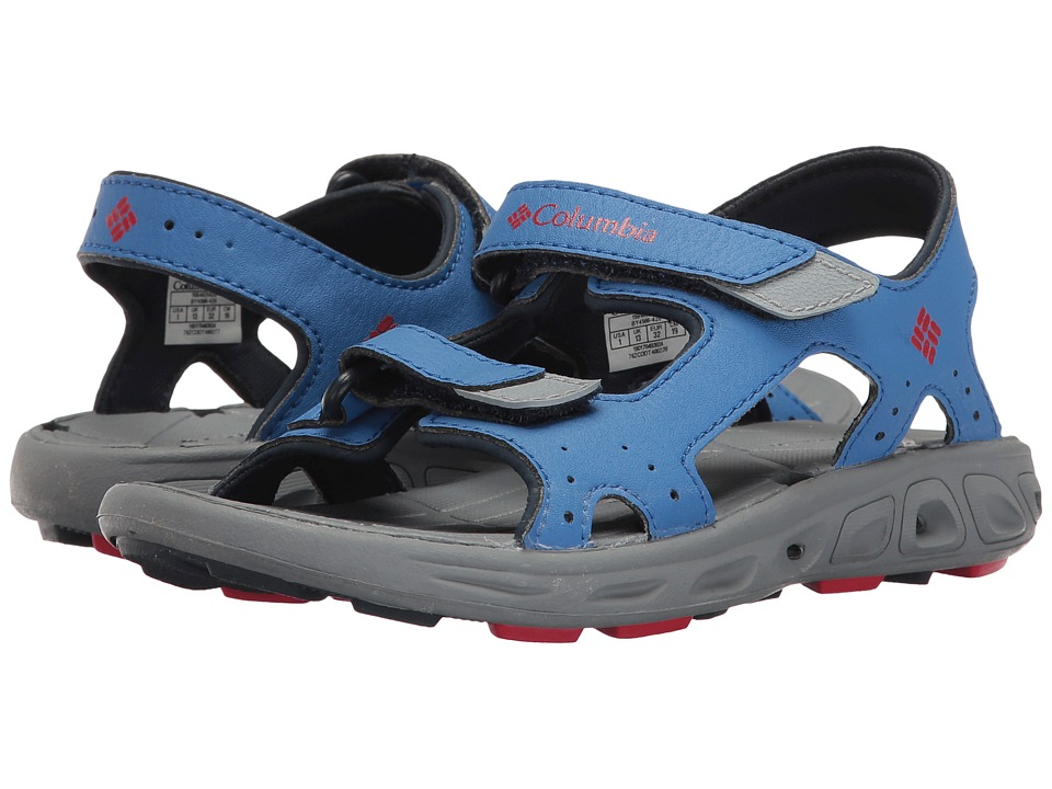 Columbia Kids - Techsuntm Vent (Toddler/Little Kid/Big Kid) (Stormy Blue/Mountain Red) Boys Shoes