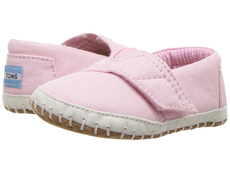 TOMS Kids Alpargata Layette (Infant/Toddler) (Pink Canvas) Girls Shoes