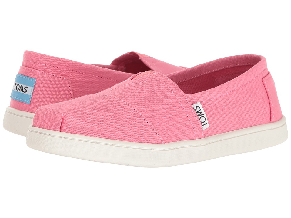 TOMS Kids Seasonal Classics (Little Kid/Big Kid) (Bubblegum Pink Canvas) Girls Shoes