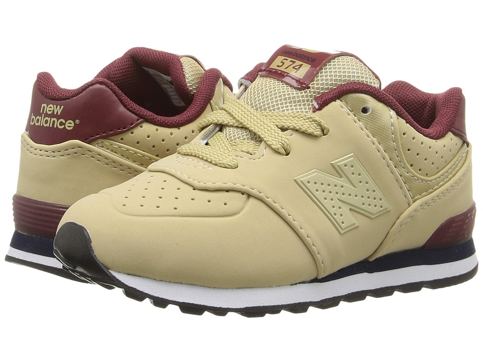 New Balance Kids - KL574 (Infant/Toddler) (Tan/Red) Boys Shoes