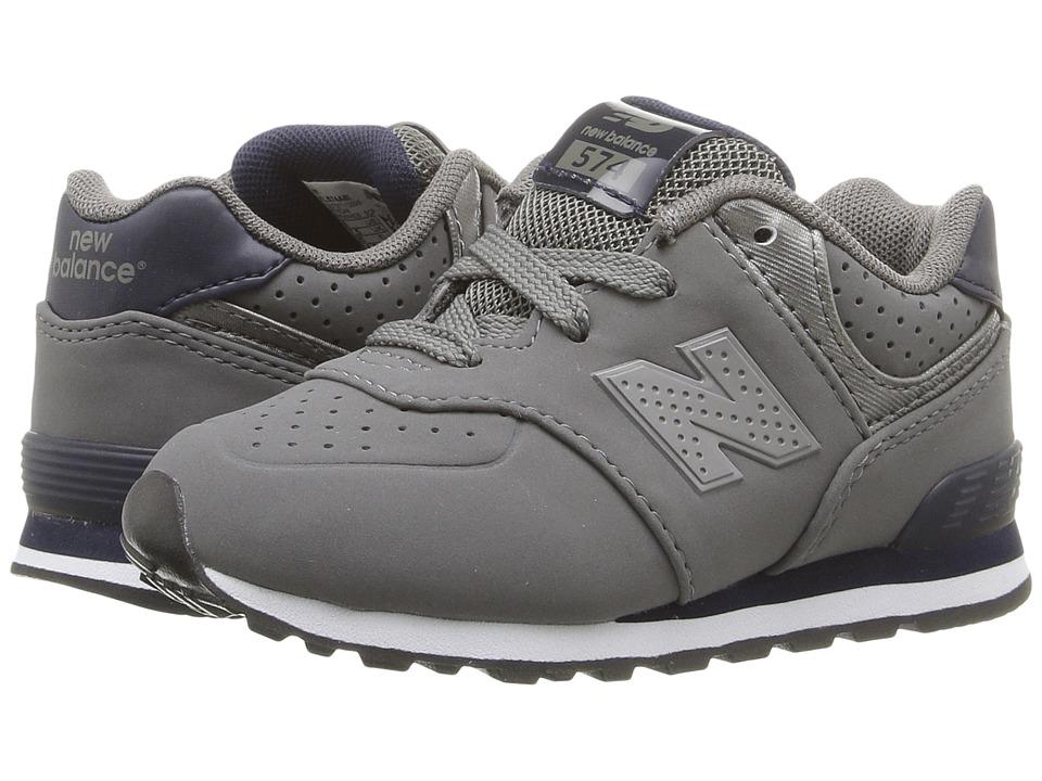 New Balance Kids - KL574 (Infant/Toddler) (Grey/Blue) Boys Shoes