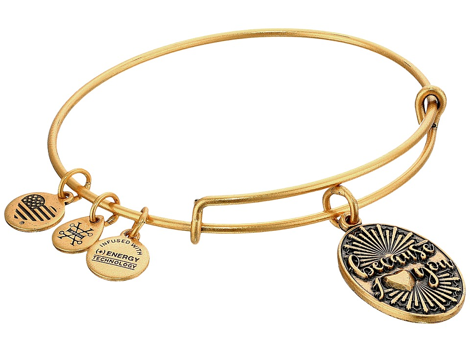 Alex and Ani - Because I Love You II (Rafaelian Gold) Bracelet