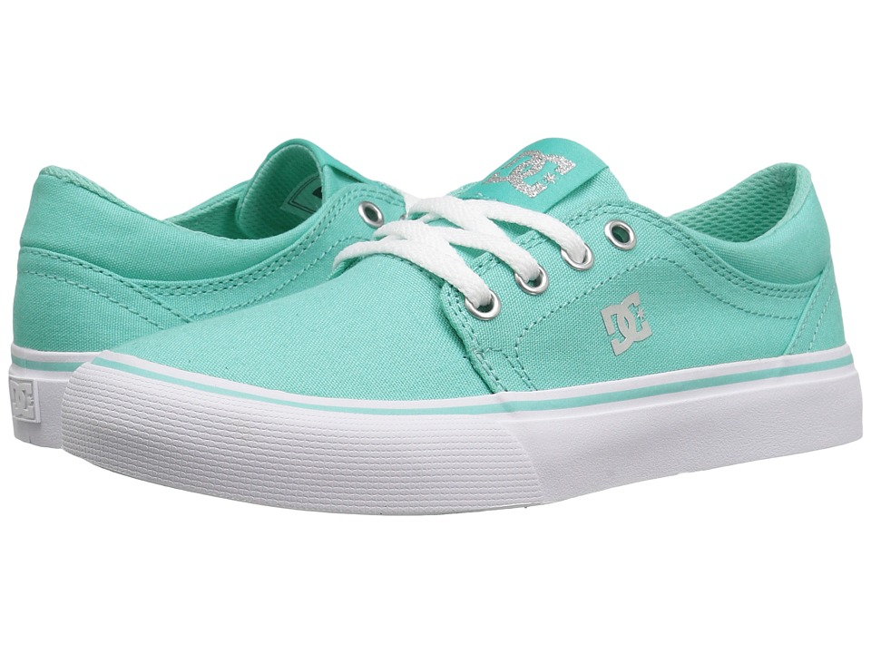 DC Kids Trase TX (Little Kid/Big Kid) (Aqua) Girls Shoes